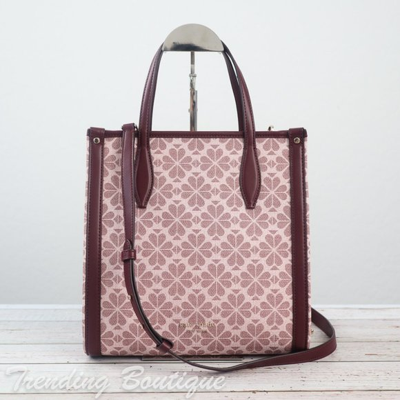 NWT Kate Spade Spade Flower Coated Canvas Infinite Medium North South Tote